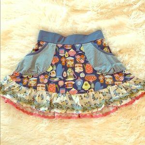 Matilda Jane Skirt, Girls Size 6, EUC